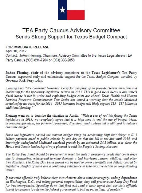 Texas Tea Party Caucus Advisory Committee