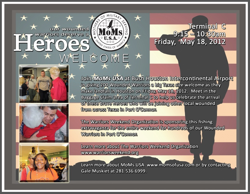 TOMORROW, FRIDAY – 5/18/12, 9:15 – 10:30 AM: WOUNDED WARRIORS at