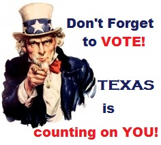 Please Don't Forget to VOTE Next Week!